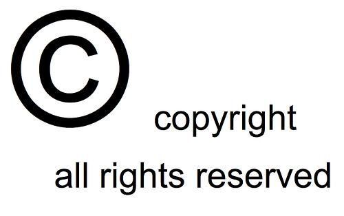 Símbolo con el que se idenfitica el derecho de autor (Copyright)
