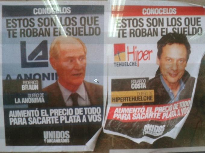 afiche escrache unidos organizados